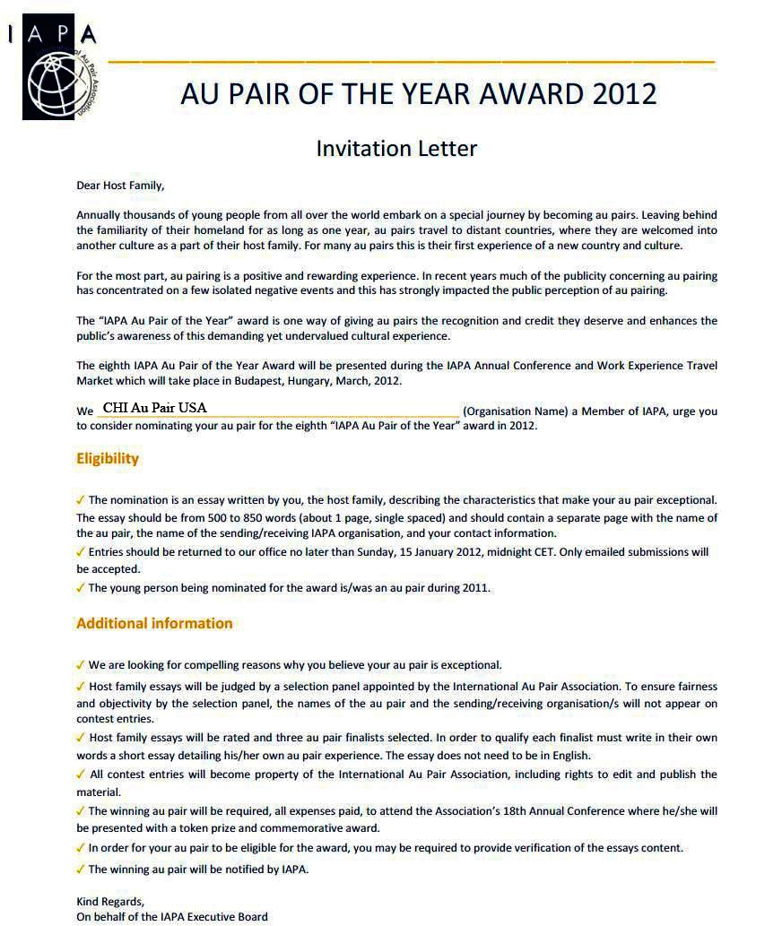 Au pair of the year nomination chi news spiritdancerdesigns Gallery